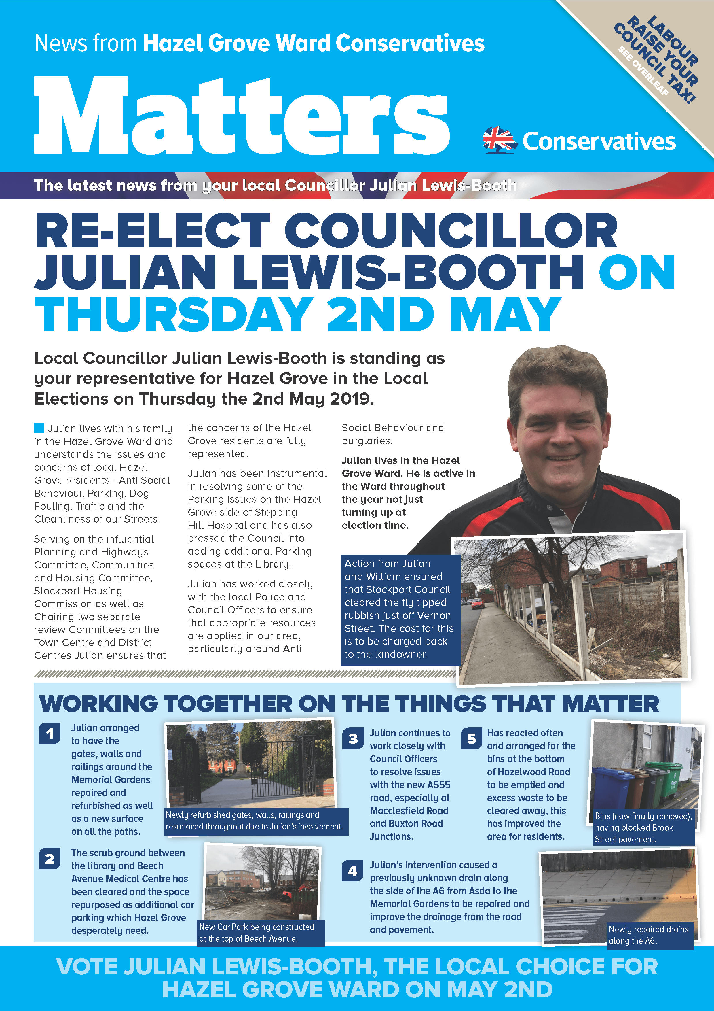 Re Elect Councillor Julian Lewis-Booth