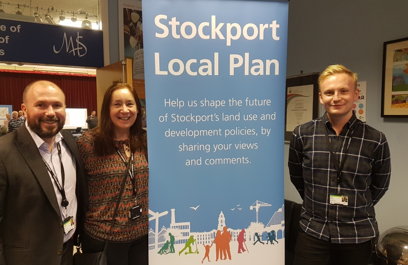 Kenny Blair, Annette Finnie and Tom Dowse at Marple Hall School Stockport Plan Consultation