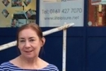 Cllr Annette Finnie at Marple Pool